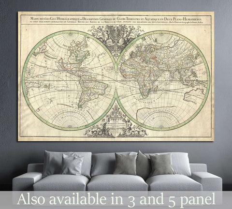 Old World Map №1471 Ready to Hang Canvas Print