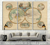 Old World Map №1473 Ready to Hang Canvas Print