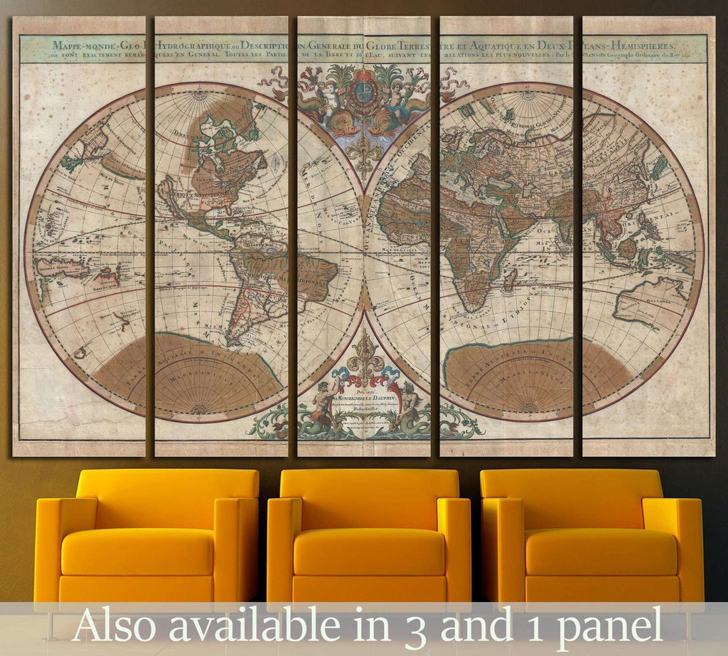 Old world map 1475 framed canvas print zellart old world map 1475 framed canvas print gumiabroncs Gallery
