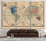 Old World Map №1479 Ready to Hang Canvas Print