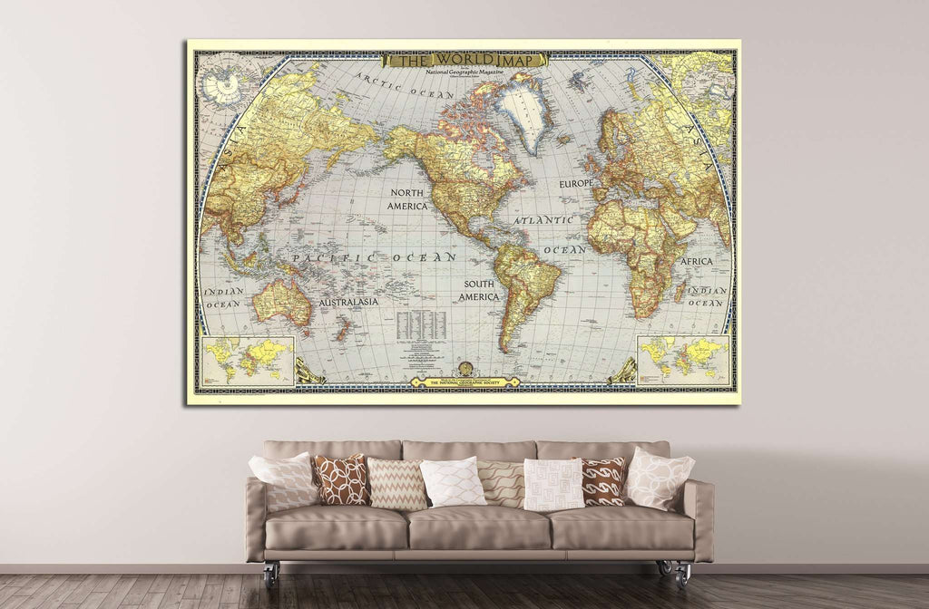 Old world map 1482 ready to hang canvas print zellart old world map 1482 ready to hang canvas print gumiabroncs Gallery