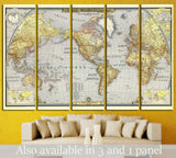 Old World Map №1482 Ready to Hang Canvas Print
