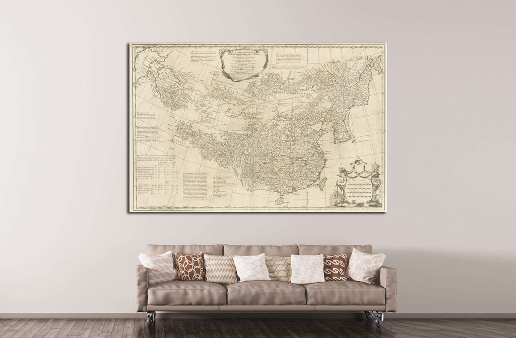 Old World Map №1485 Ready to Hang Canvas Print