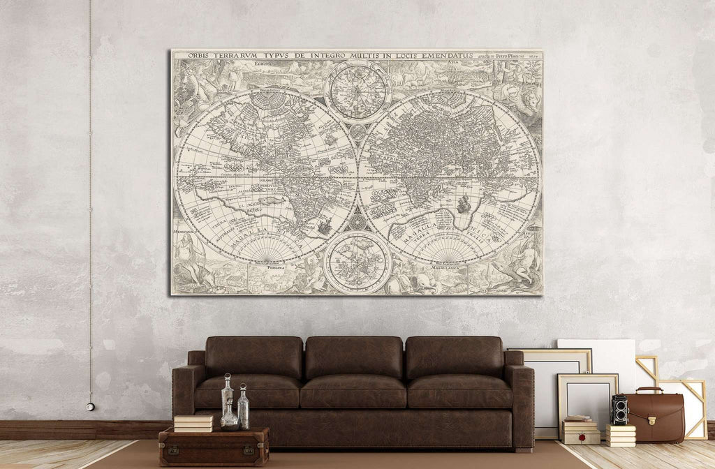 Old World Map №1487 Ready to Hang Canvas Print
