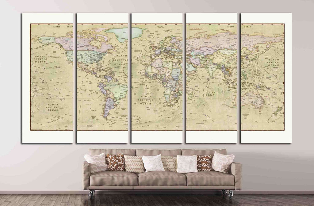 Old World Map №1488 Ready to Hang Canvas Print