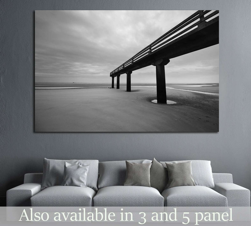 Omaha beach in Normandy, France №1105 Ready to Hang Canvas Print