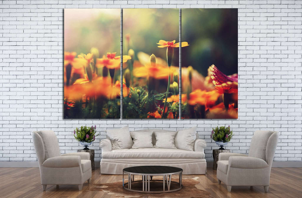 Orange flowers №22 Ready to Hang Canvas Print