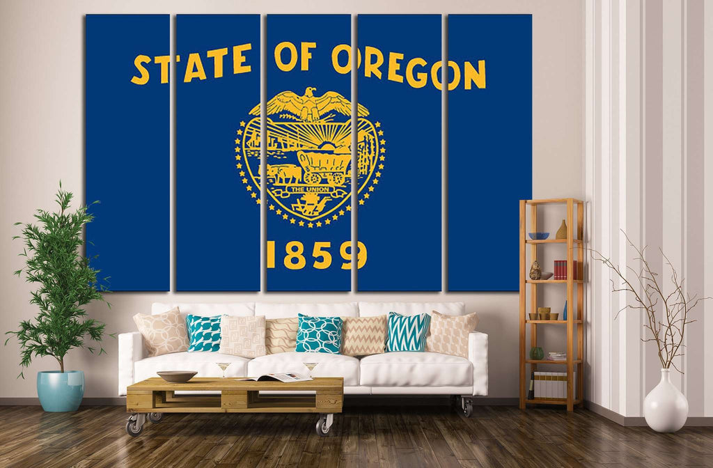 Oregon State Flag №683 Ready to Hang Canvas Print