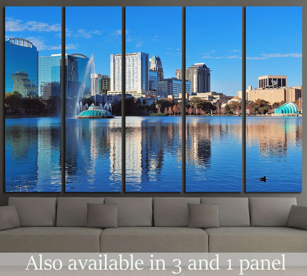 Orlando Lake Eola in the morning №1214 Ready to Hang Canvas Print