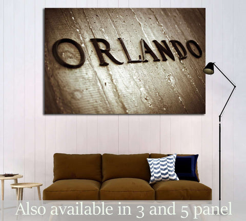 Orlando Sign №1951 Ready to Hang Canvas Print