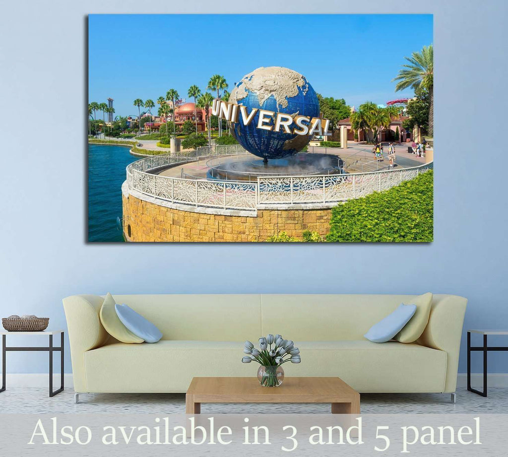 ORLANDO,USA, Universal Globe at Universal Studios Florida theme park №1942 Ready to Hang Canvas Print