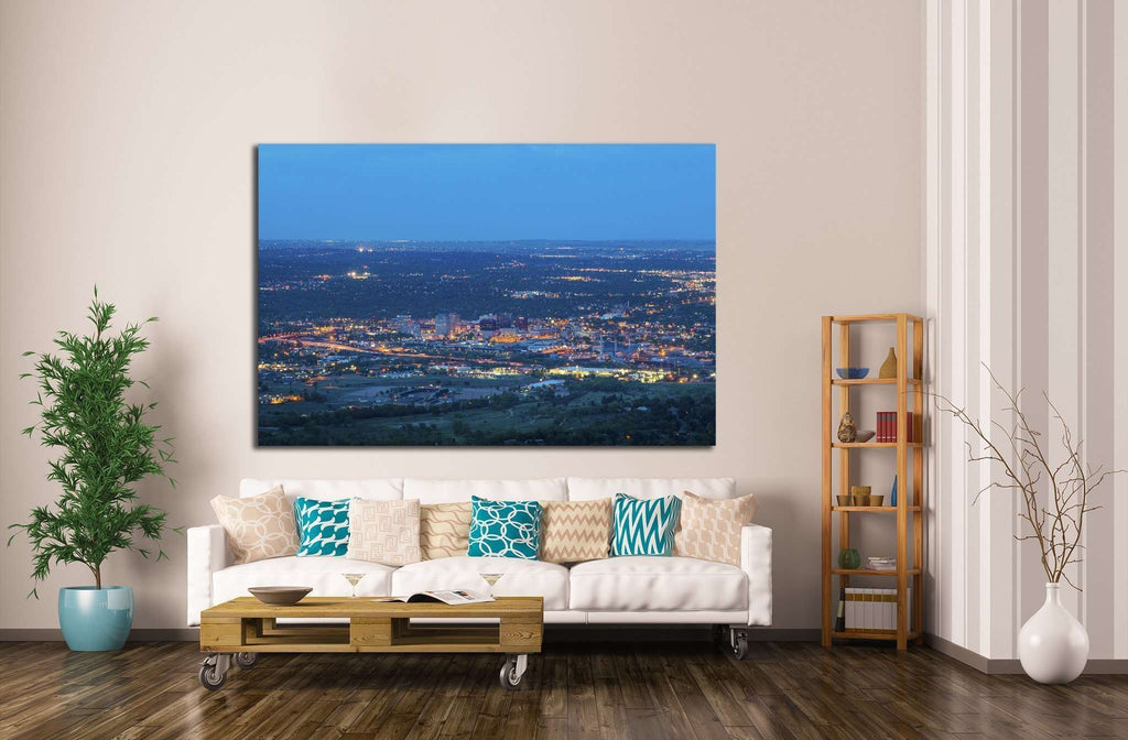 Overlooking Colorado Springs №1763 Ready to Hang Canvas Print