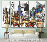 Painted City №534 Ready to Hang Canvas Print