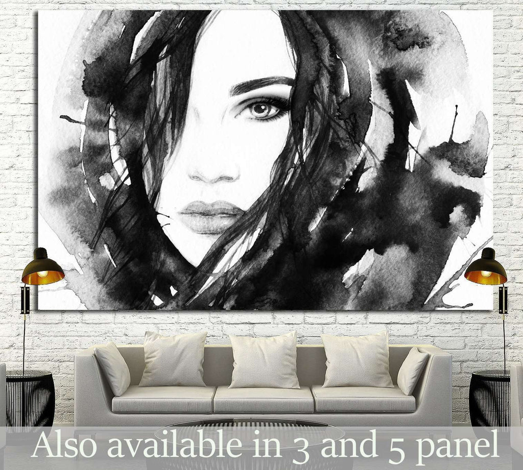 Painted Girl №721 Ready to Hang Canvas Print