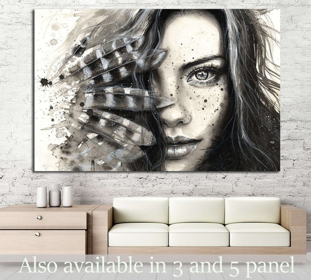 Painted Girl №722 Ready to Hang Canvas Print