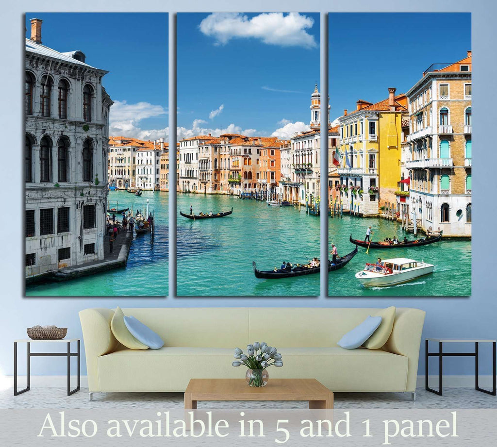 Palazzo dei Camerlenghi and the Grand Canal №1542 Ready to Hang Canvas Print