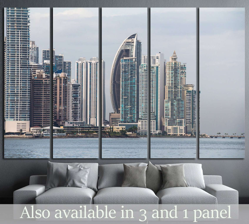 Panama City Skyline, seen from Casco Viejo №1532 Ready to Hang Canvas Print