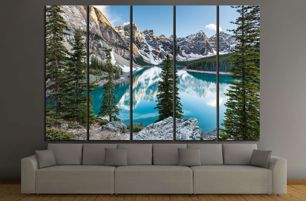 Panorama in the banff, Canada №632 Ready to Hang Canvas Print