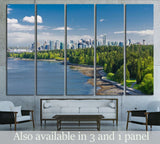 Panoramic view of the park and downtown city of Vancouver №2035 Ready to Hang Canvas Print