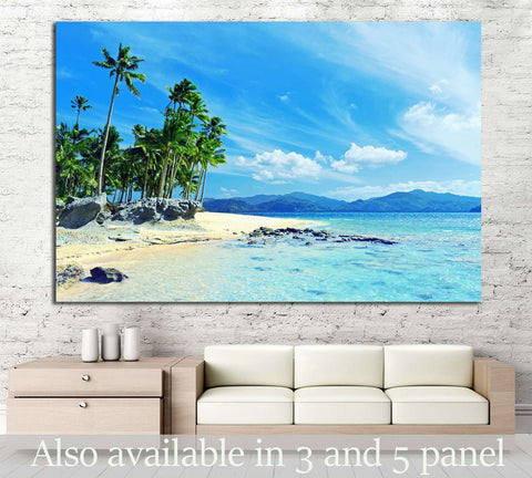 Paradise beach №1018 Ready to Hang Canvas Print