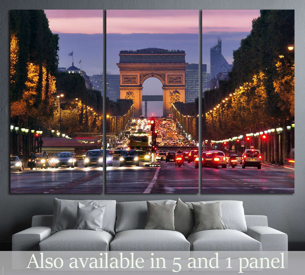 Paris, Champs-Elysees №772 Ready to Hang Canvas Print