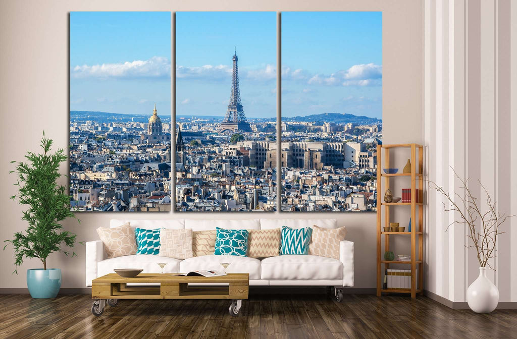 Paris Panorama, Cathedral Notre Dame de Paris, France №1279 Ready to Hang Canvas Print