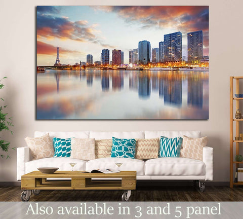 Paris skyline №738 Ready to Hang Canvas Print