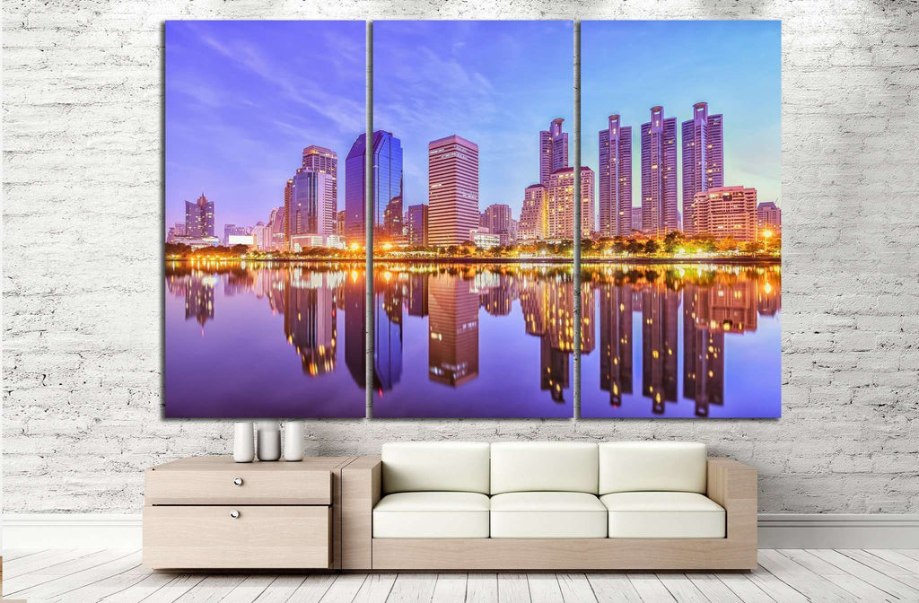 Park at Bangkok №826 Ready to Hang Canvas Print
