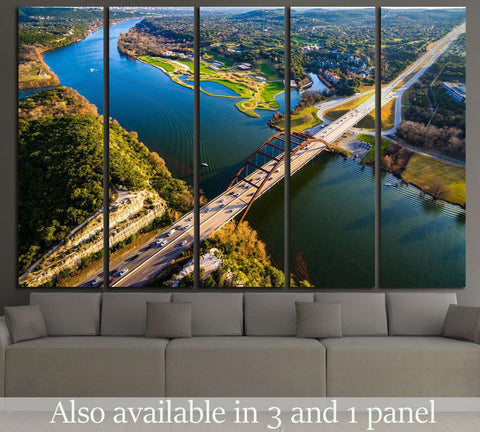 Pennybacker Bridge, Austin, Texas №1109 Ready to Hang Canvas Print