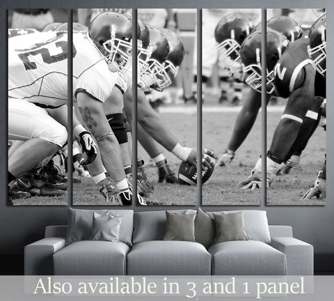 PHILADELPHIA, PA. Temple Defensive Line face off against Buffalo offensive linemen №2112 Ready to Hang Canvas Print