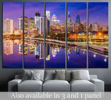 Philadelphia, Pennsylvania, USA Skyline on the Schuylkill River №2089 Ready to Hang Canvas Print