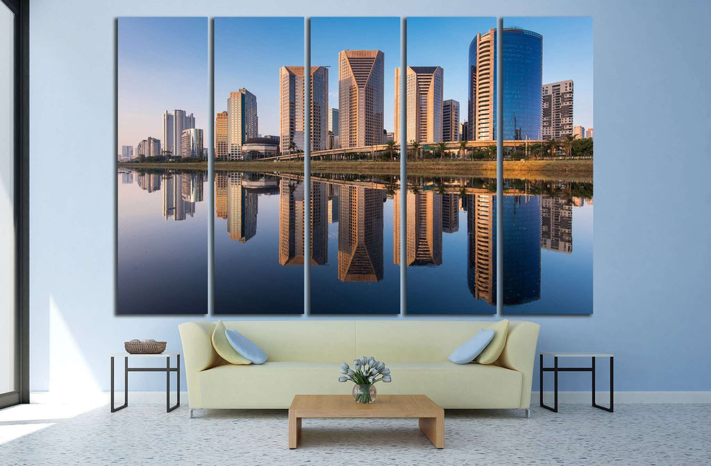 Pinheiros River in Sao Paulo City, Brazil №1242 Ready to Hang Canvas Print
