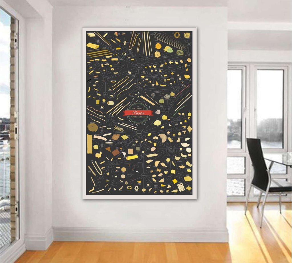 PLETHORA OF PASTA PERMUTATIONS №2030 Ready to Hang Canvas Print