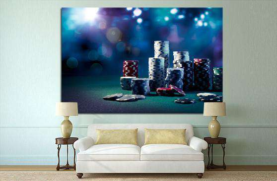 Poker Chips №545 Ready to Hang Canvas Print