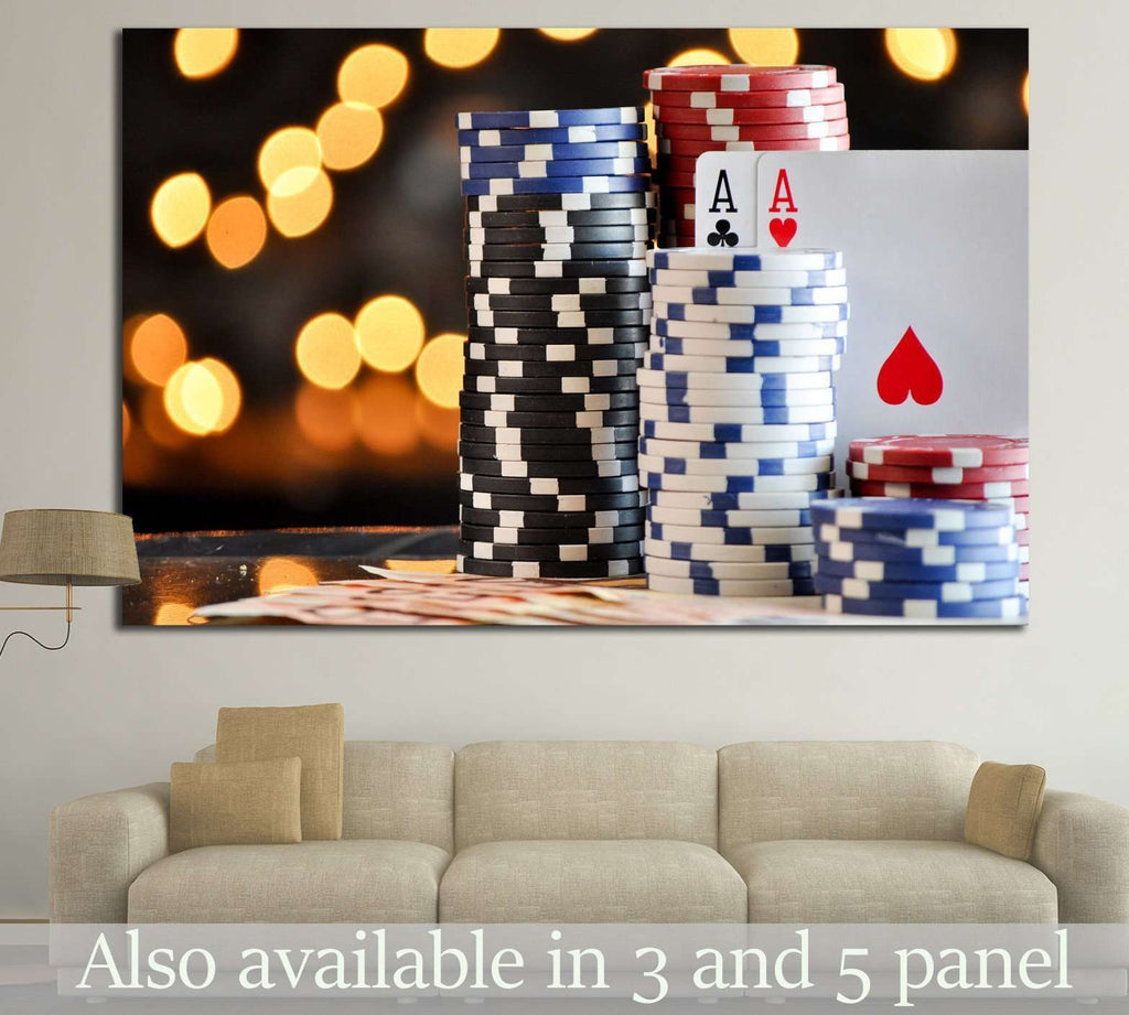 Poker Chips №725 Ready to Hang Canvas Print