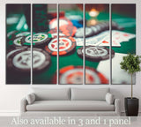 Poker Chips №726 Ready to Hang Canvas Print