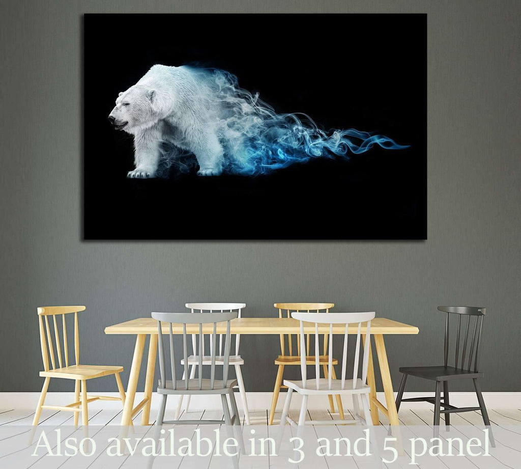 polar bear, animal kingdom, south pole, antarctic wildlife, north pole №1830 Ready to Hang Canvas Print