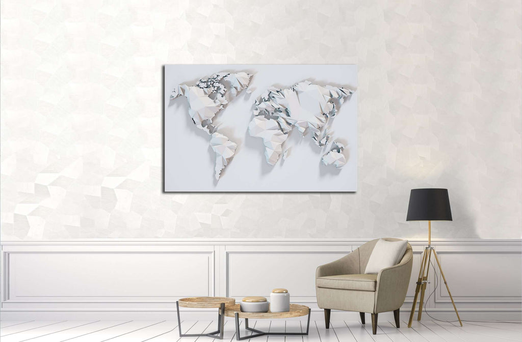 Poly paper world map background 3d rendering 3220 canvas print poly paper world map background 3d rendering 3220 canvas print gumiabroncs Image collections