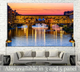 Ponte Vecchio over Arno River in Florence, Italy №1244 Ready to Hang Canvas Print