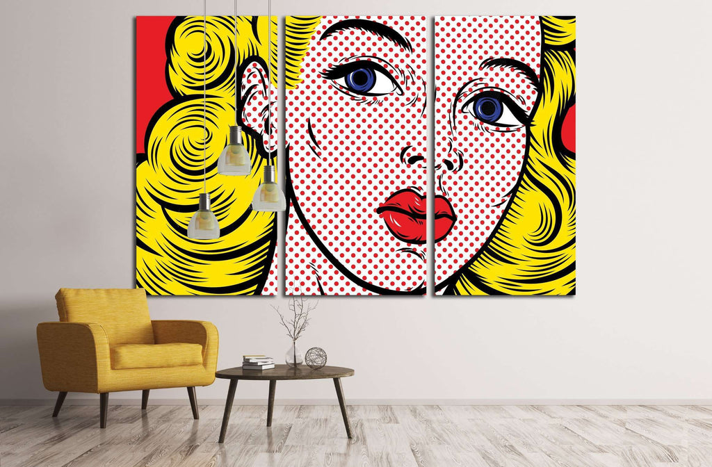 Pop Art Girl №3288 Ready to Hang Canvas Print