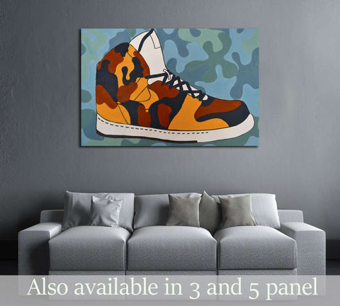 Pop art №3305 Ready to Hang Canvas Print