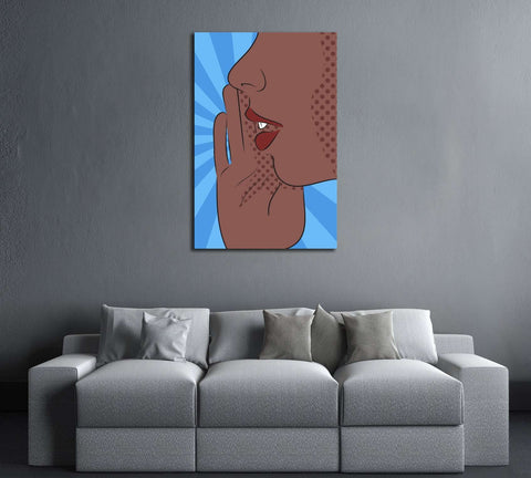 Pop Art №3311 Ready to Hang Canvas Print