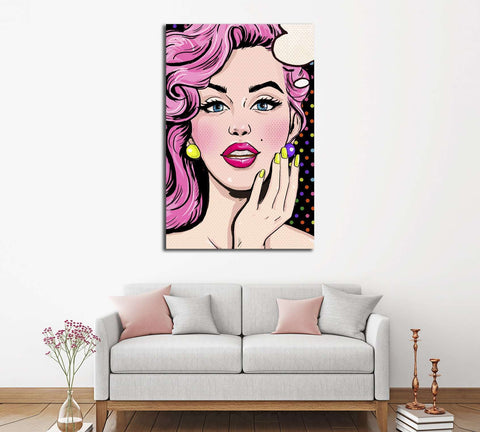 Pop Art №3312 Ready to Hang Canvas Print