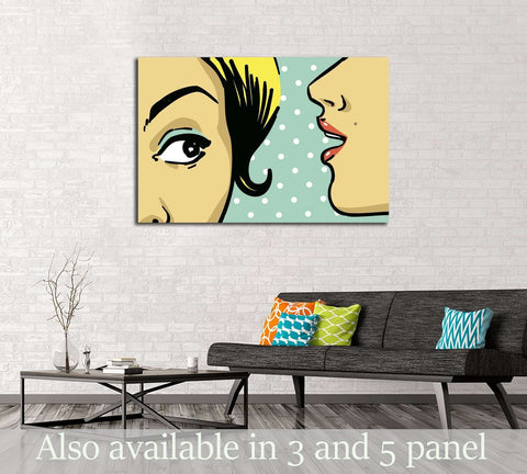 Pop Art №3313 Ready to Hang Canvas Print