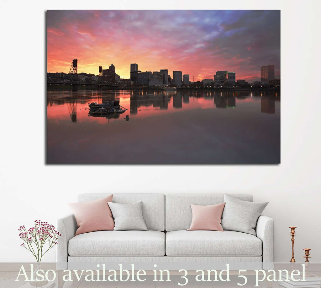 Portland Oregon Downtown №790 Ready to Hang Canvas Print