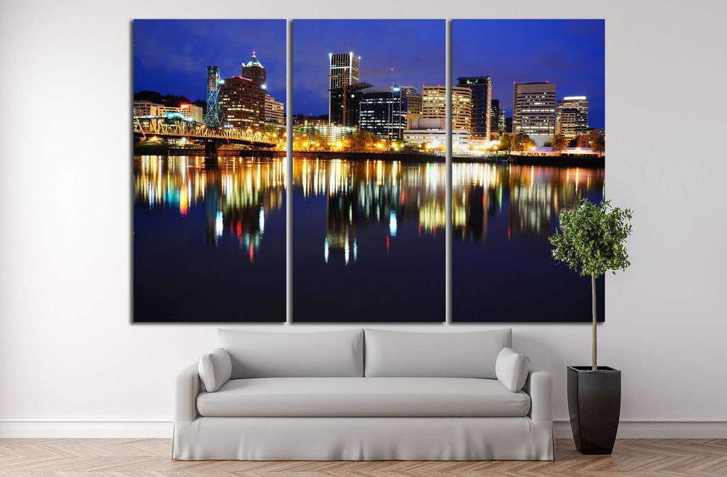 Portland Skyline №769 Ready to Hang Canvas Print