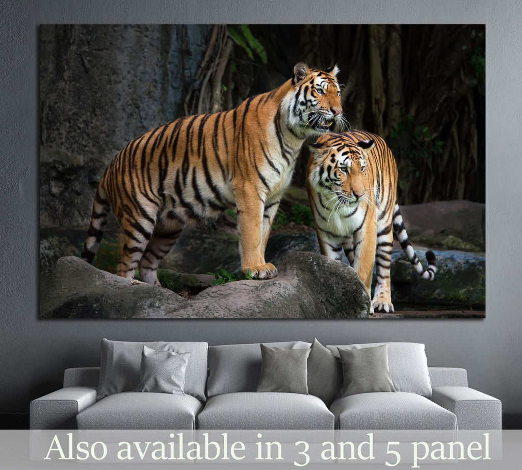 Portrait of a Royal Bengal tiger №1117 Ready to Hang Canvas Print