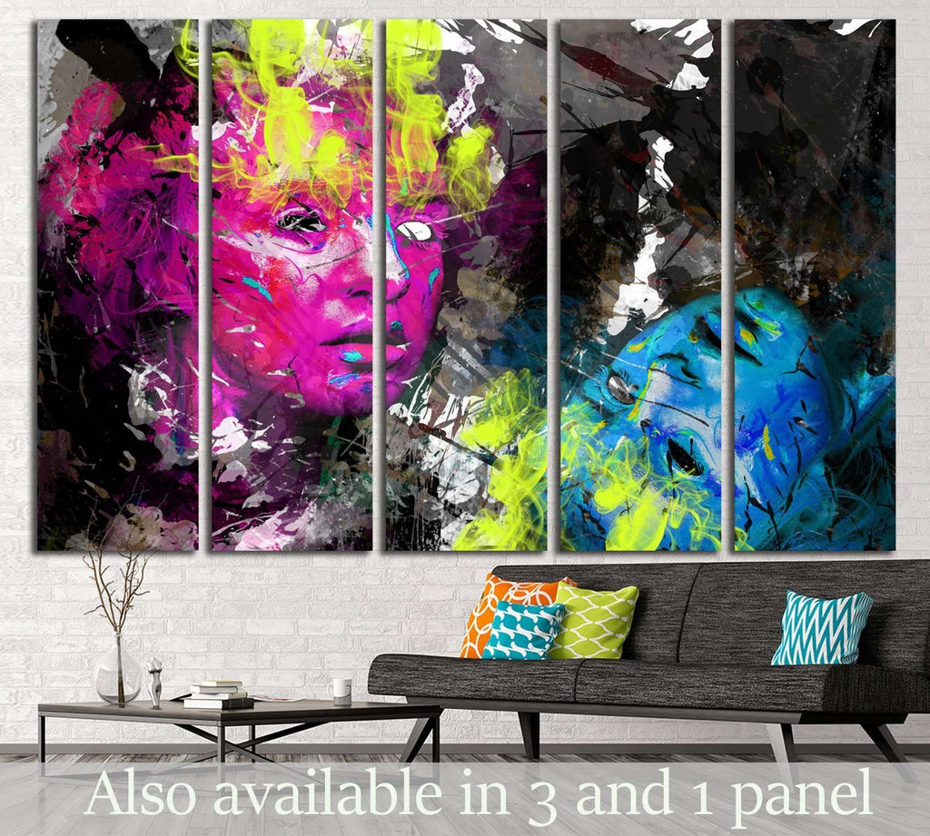 Psychedelic image №734 Ready to Hang Canvas Print