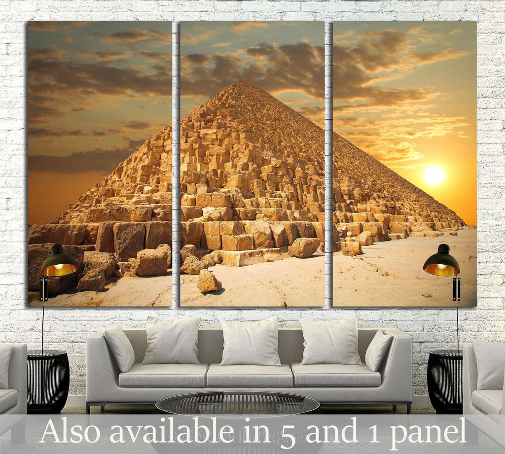 pyramids of the pharaohs in Giza. Cairo, Egypt №2190 Ready to Hang Canvas Print