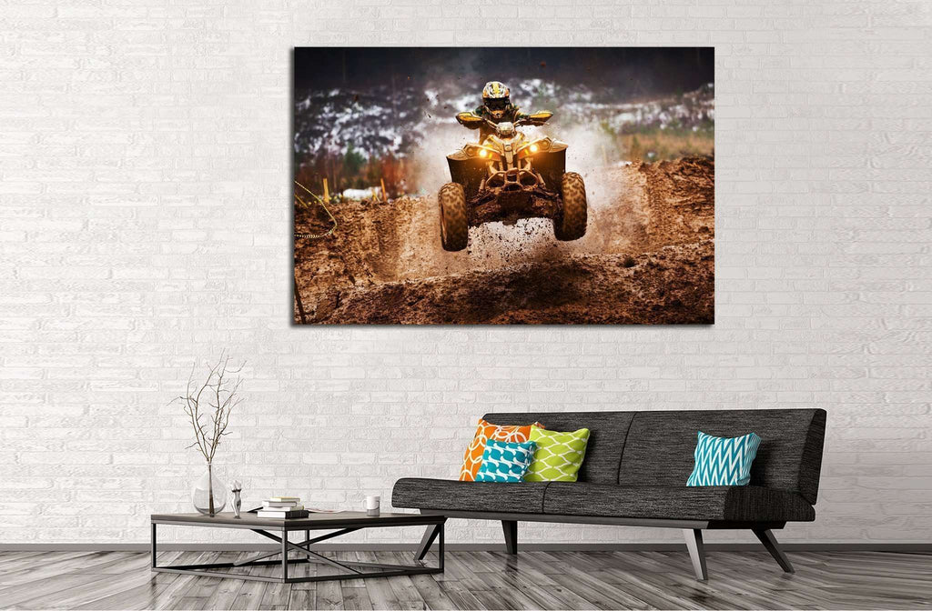 Quad Biker №149 Ready to Hang Canvas Print